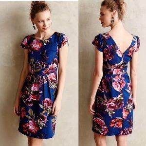 Moulinette Soeurs navy floral print ROSADA dress